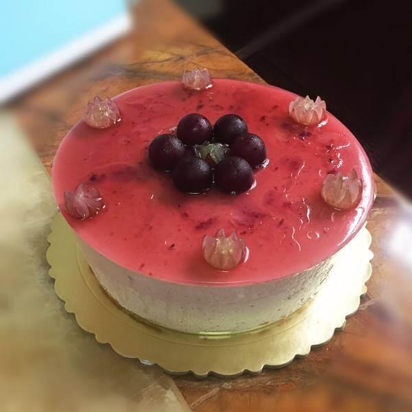 蓝莓葡萄幕司蛋糕