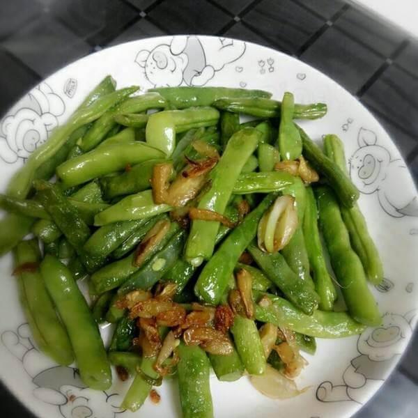 蒜香肉松四季豆
