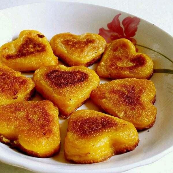 心型肉香饼