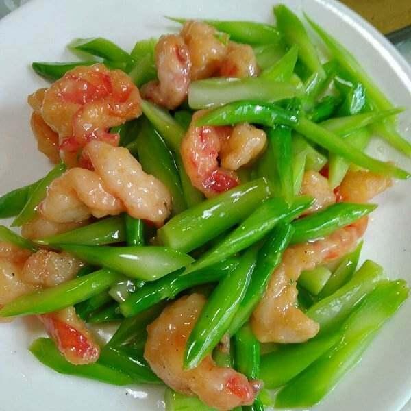 马苏里拉鲜虾炒双笋