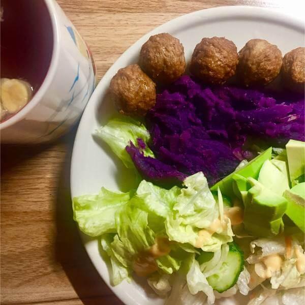 苹果紫薯色拉