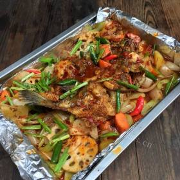 洋葱烤鱼块