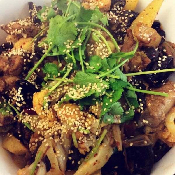 红酒豆豉干锅脆排
