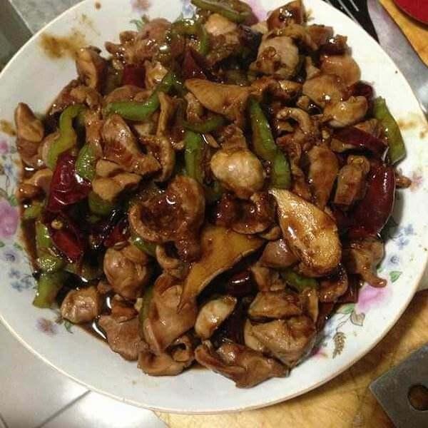 香菇炒鸡胗