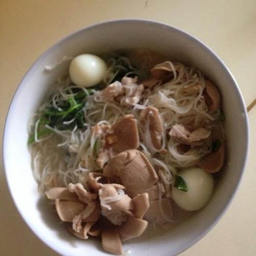 培根米粉汤