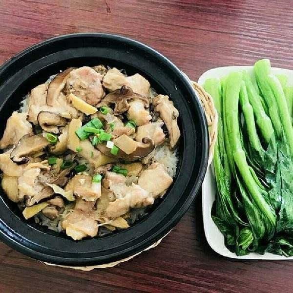 冬菇滑鸡汤饭