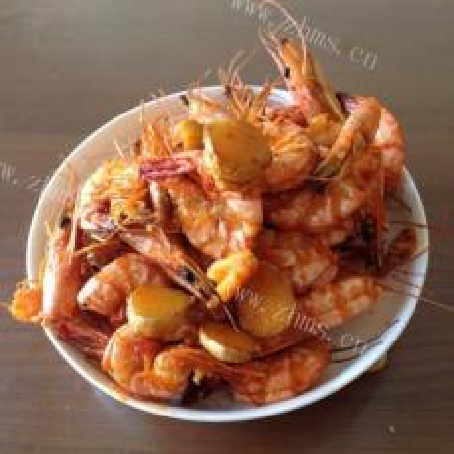 椒盐油爆虾