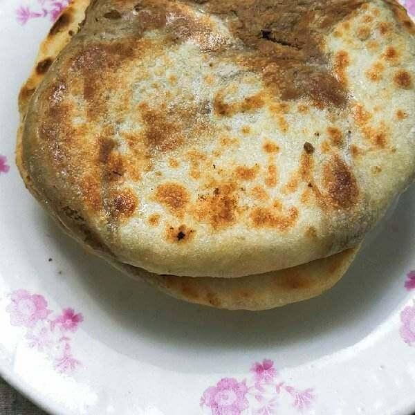 豆渣麻酱饼