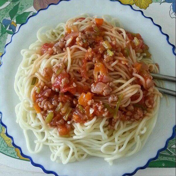茄汁肉末意粉