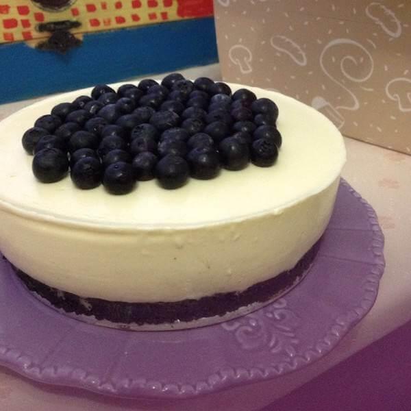 蓝莓奶油冻芝士蛋糕