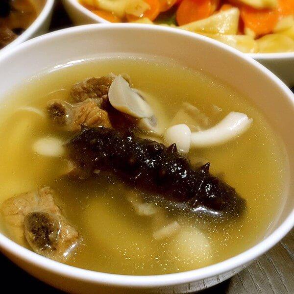 海参龙骨汤
