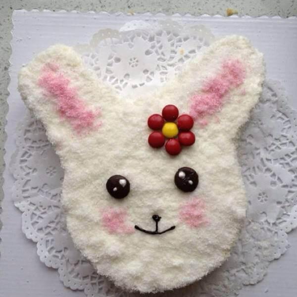 可爱小兔蛋糕
