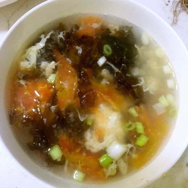 紫菜蕃茄鸡蛋汤水