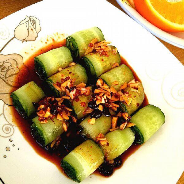 黄瓜炒鲜鱿卷