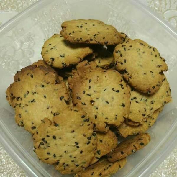 黑芝麻酥脆饼干