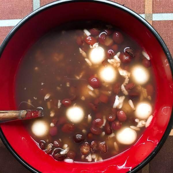 赤豆米酒冰球