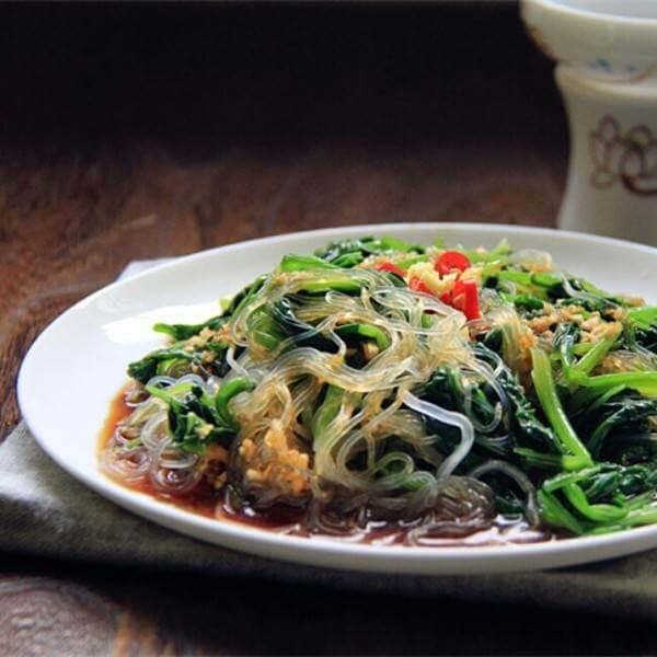 凉拌粉丝菠菜