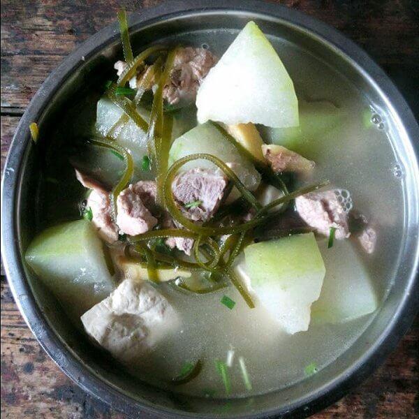 豆腐海带排骨汤
