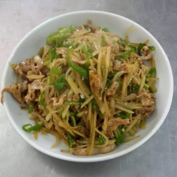 咸疙瘩炒肉丝