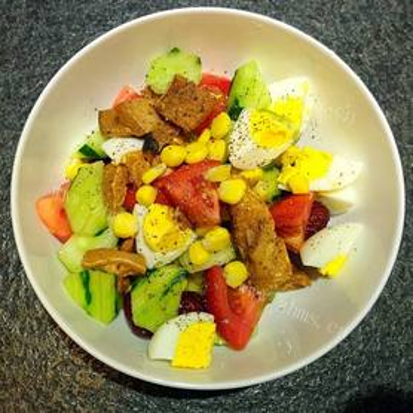 肉糜油条蔬果沙拉