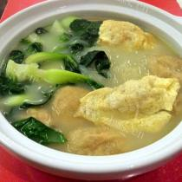 火腿蛋饺汤