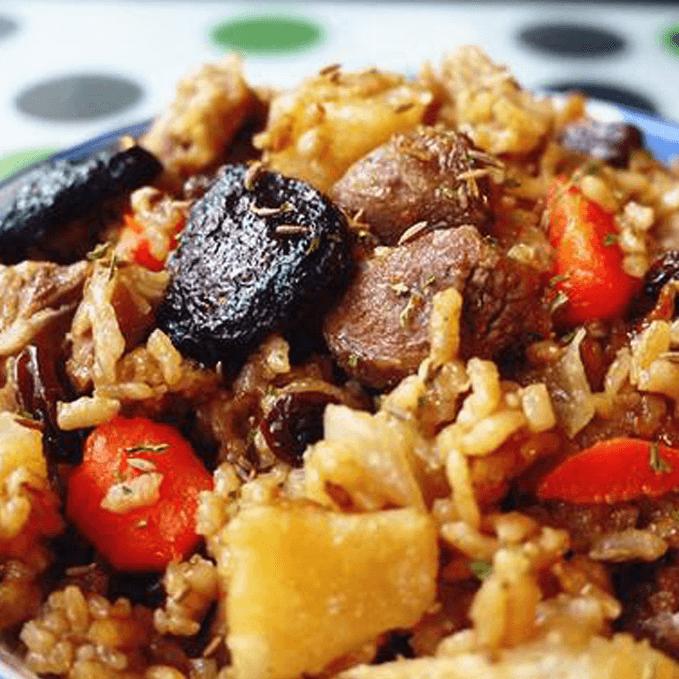 杂粮羊肉焖饭