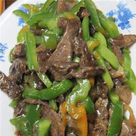 青椒炒牛腱子肉