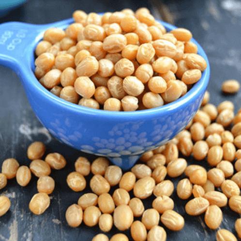 在家做的炒黄豆