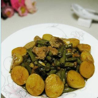 小土豆炒豇豆