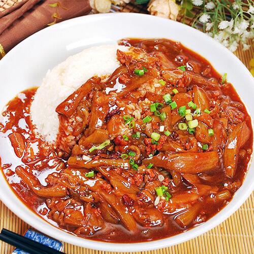 肉糜茄丁盖饭