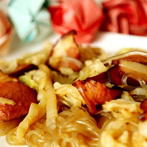 白菜粉皮燉臘肉