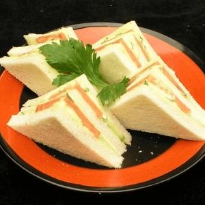 美味的自制三明治