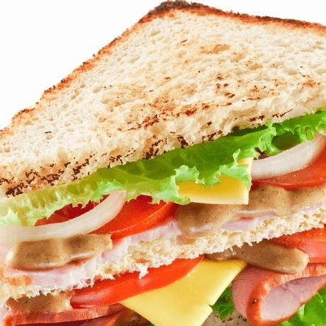 好吃的自制三明治