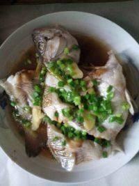 美味的清蒸黄花鱼