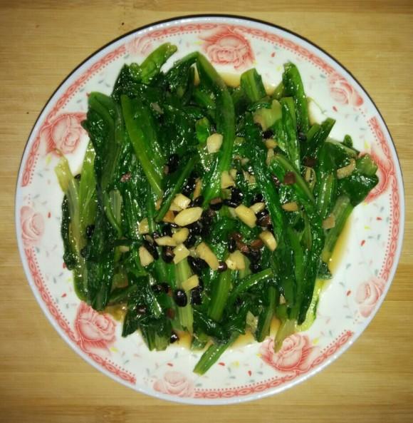 美味的豆豉油麦菜
