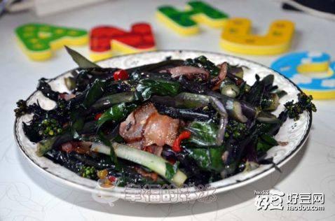 臘肉紅菜苔-解思鄉