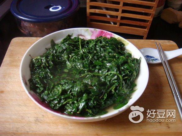 清炒枸杞菜