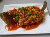 简易的茄汁鲈鱼