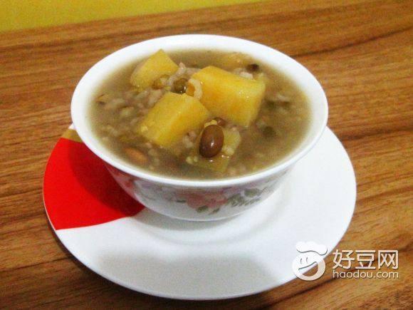 红薯绿豆粥