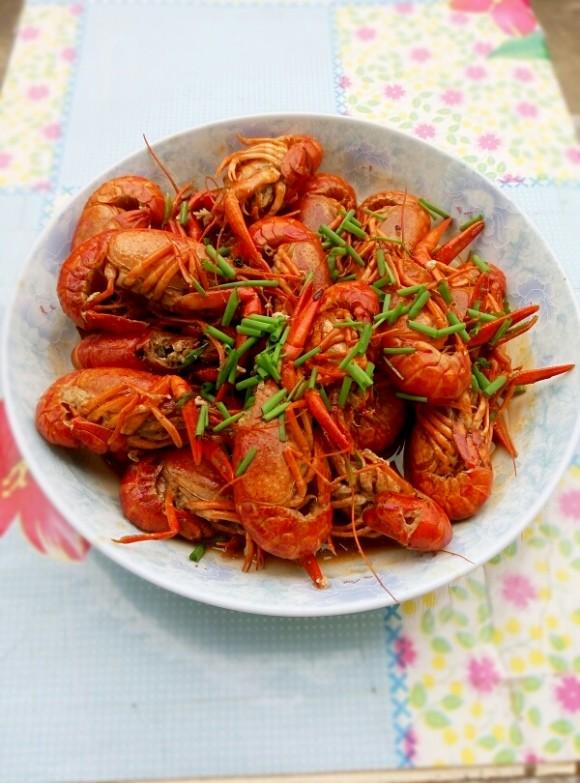 美味的香辣小龙虾
