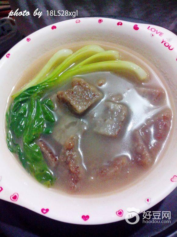 青菜蝦皮酥肉湯