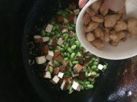 家常豆腐干毛豆炒鸡肉丁的做法图解九