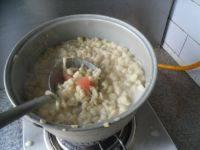 自制鸡蛋番茄疙瘩汤的做法图解八
