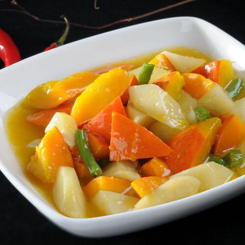 营养土豆豆角南瓜大烩菜