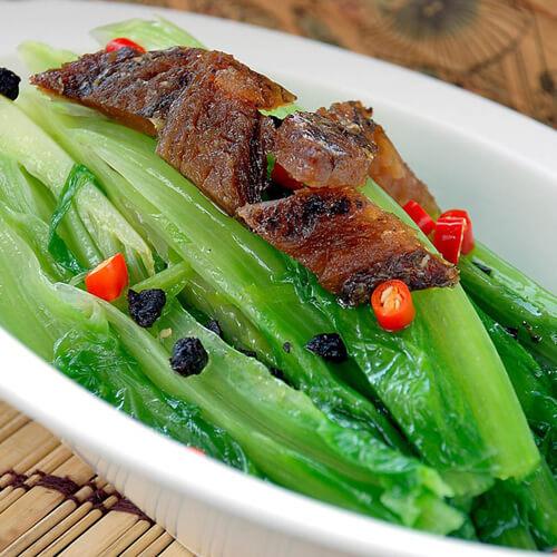 自制豆豉鲮鱼油麦菜