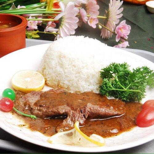 自制黑椒牛排飯