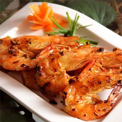 自制蒜香烤虾-德普烘焙食