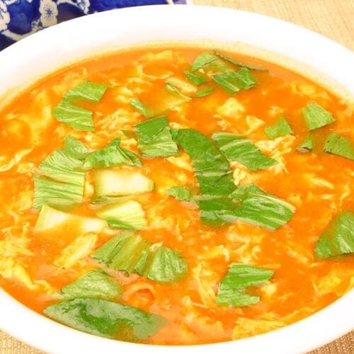 美味西红柿鸡蛋疙瘩汤