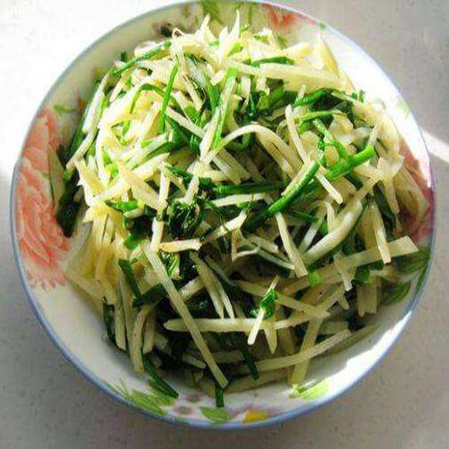 简单清炒韭菜土豆丝