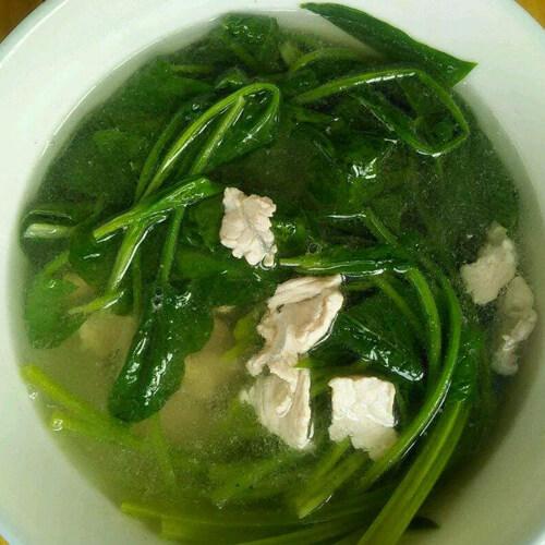 营养嫩肉菠菜汤
